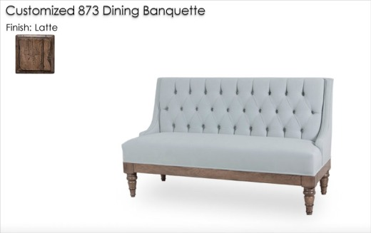 Customized 873 Banquette finished in Latte
