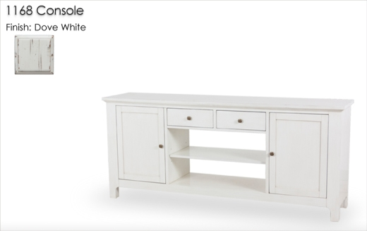1168 Console finished in Dove White