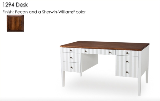 1294 Desk finished in Pecan and a Sherwin Williams color