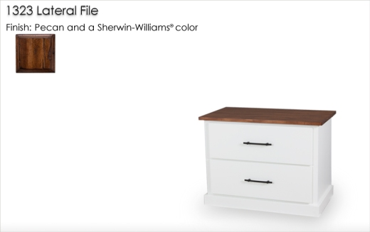 1323 Lateral File finished in Pecan and a Sherwin Williams color