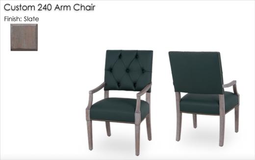 Custom 240 Side Chair finished in Slate