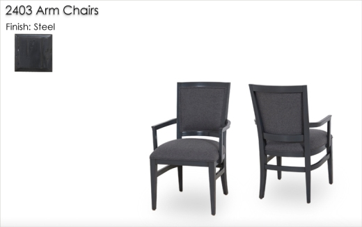 2403 Arm Chairs finished in Steel