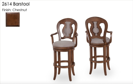 2614 Barstools finished in Chestnut