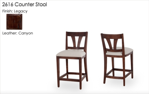2616 Counter Stools finished in Legacy