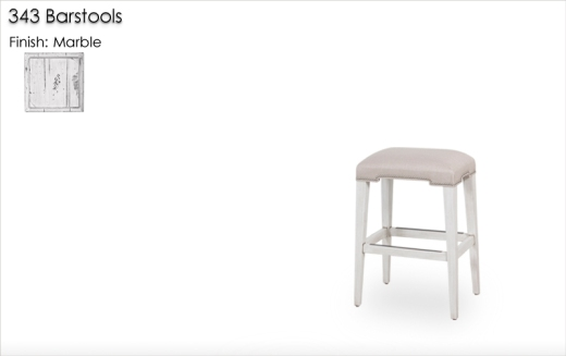 343 Barstools finished in Marble