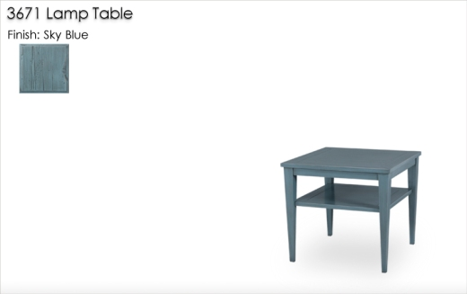 3671 Lamp Table in Sky Blue