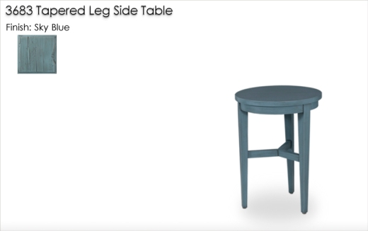 Lorts 3683 Side Table finished in Sky Blue