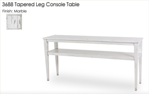 3688 Console Table finished in Marble