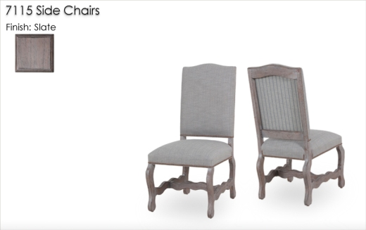 7115 Arm Chairs finished in Slate