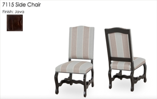 7115 Side Chair finished in Java