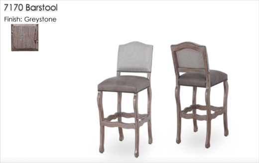 7170 Barstools finished in Greystone