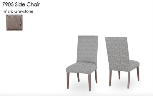 Lorts 7905 Level Top Dining Side Chair finished in Greystone