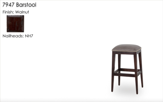 7947 Barstools finished in Walnut with NH7 nailheads