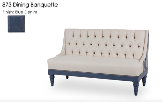 Lorts 873 Dining Banquette finished in Blue Denim