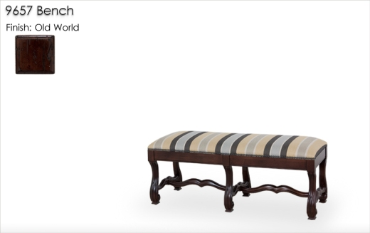9657 Bench finished in Old World