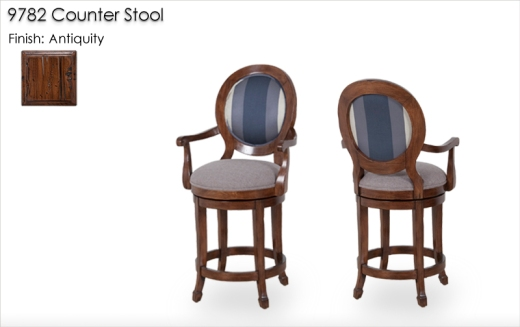 9782 Counter Stools finished in Antiquity