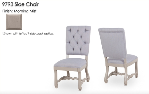 9793 Side Chair finished in Morning Mist