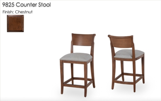 9825 Counter Stools finished in Chestnut