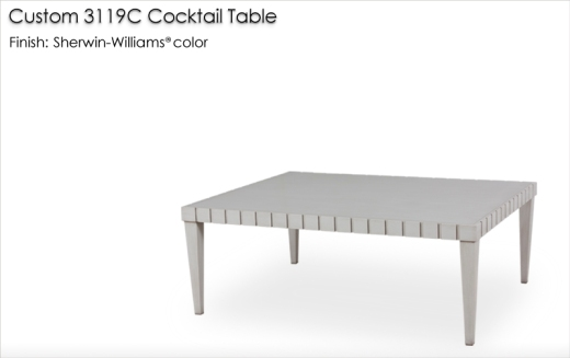 Lorts Custom 3119C Cocktail Table finished in a Sherwin-Williams color