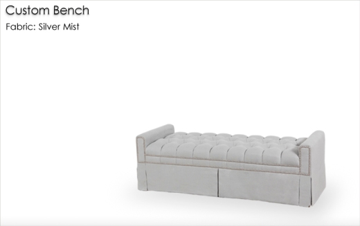 Custom Fully Upholstered Bench