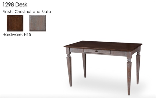 Lorts 1298 Desk finished in Slate and Chestnut