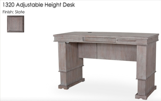 Lorts 1320 Adjustable Height Desk finished in Slate