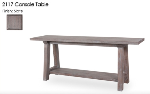 Lorts 2117 Console Table finished in Slate
