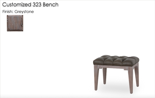 Customized 323 Bench finished in Greystone