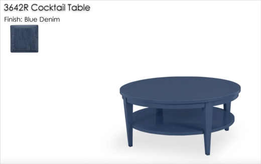 3642R Cocktail Table finished in Blue Denim