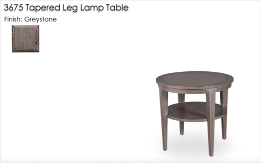 Lorts 3675 Tapered Leg Lamp Table finished in Greystone