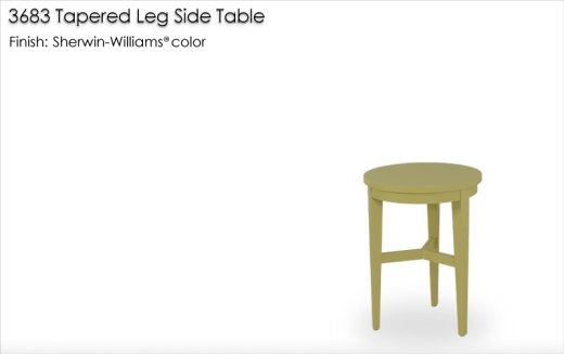 Lorts 3683 Tapered Leg Side Table finished in a Sherwin WIlliams color