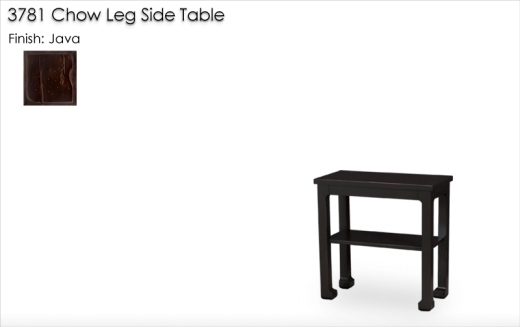 Lorts 3781 Chow Leg Side Table finished in Java