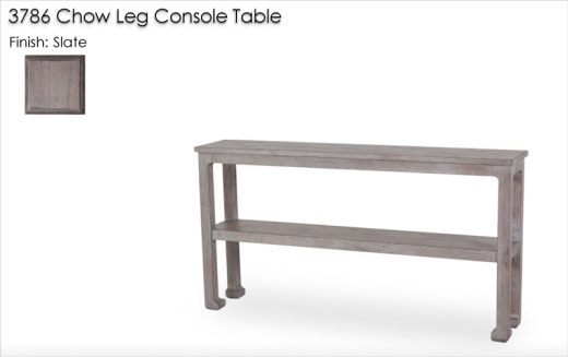 Lorts 3786 Chow Leg Console Table finished in Slate