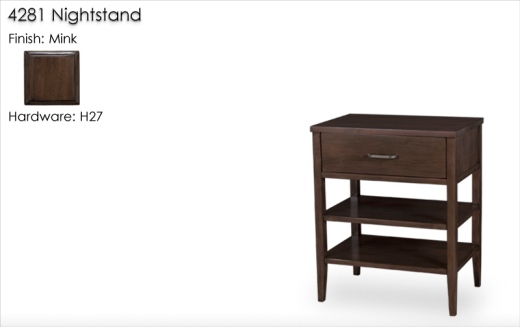 Lorts 4281 Nightstand finished in Mink