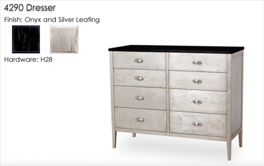 Lorts 4290 Dresser finished in Onyx and Silver Leafing