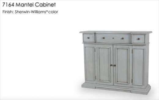 7164 Mantel Cabinet finished in a Sherwin-Williams color