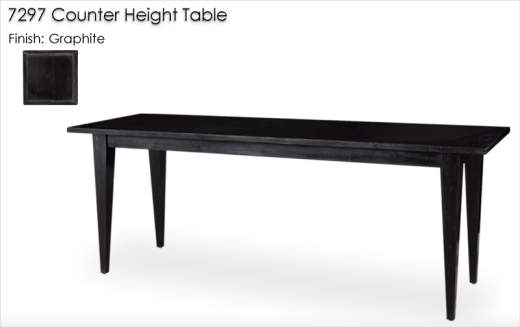 7297 Counter Height Table finished in Graphite
