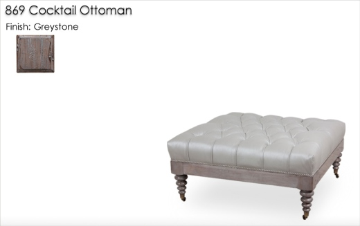 Lorts 869 Cocktail Ottoman finished in Greystone