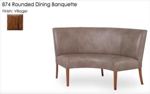 Lorts 874 Rounded DIning Banquette finished in Villager