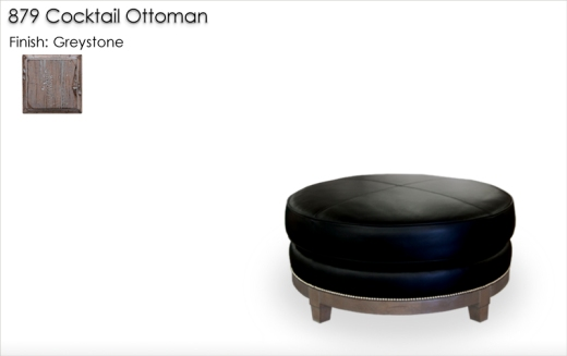 879 Cocktail Ottoman finished in Greystone