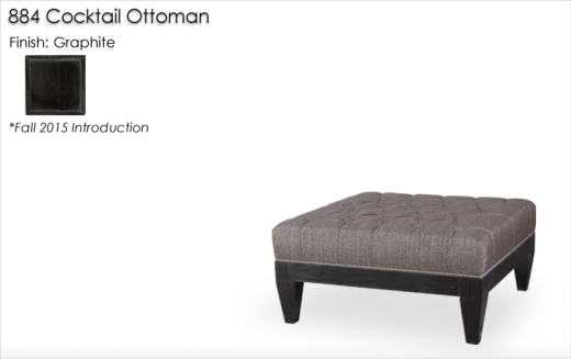884 Cocktail Ottoman finished in Graphite