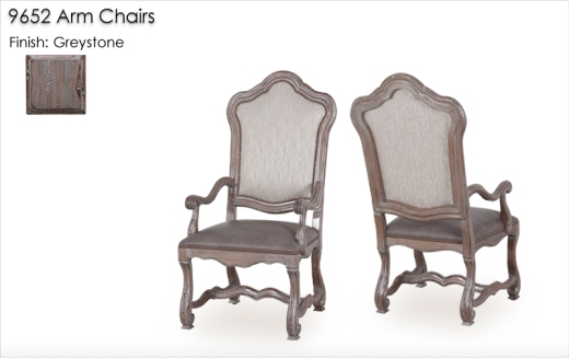 9652 Arm Chairs finished in Greystone