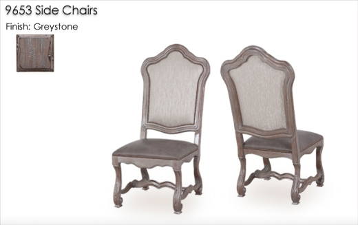 9653 Side Chairs finished in Greystone