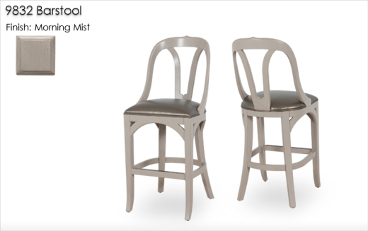 9832 Barstools finished in Morning Mist