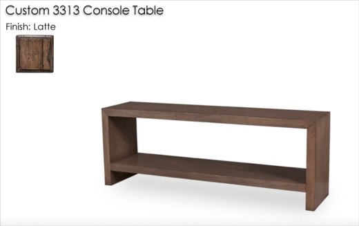 Custom 3313 Console Table finished in Latte