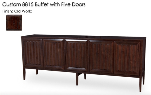 Custom Five Door 8815 Buffet finished in Old World