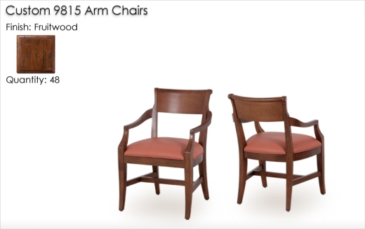 48 Qty. Custom 9815 Arm Chairs finished in Fruitwood