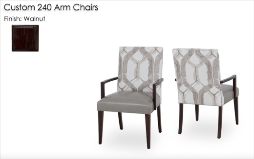 Lorts Custom 240 Arm Chairs finished in Walnut