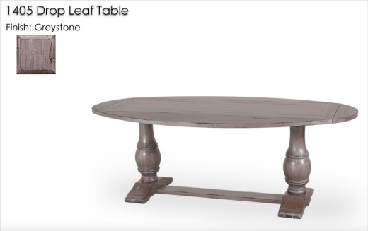 1405 Drop Leaf Table finished in Greystone