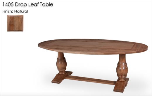 1405 Drop Leaf Table finished in Natural